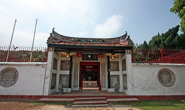 Traditional Chinese cemetery entrance in Malaysia