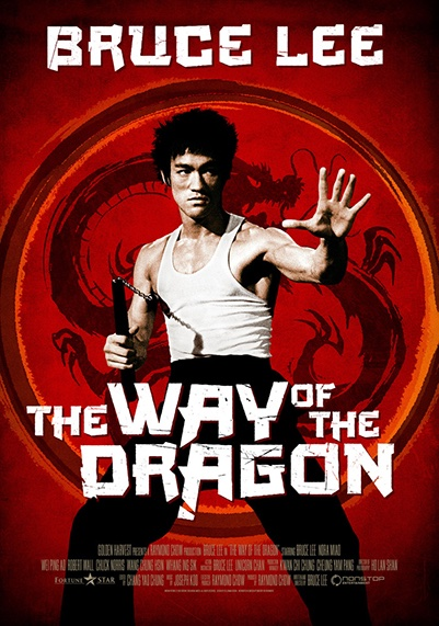 The Way of the Dragon movie poster starring Bruce Lee
