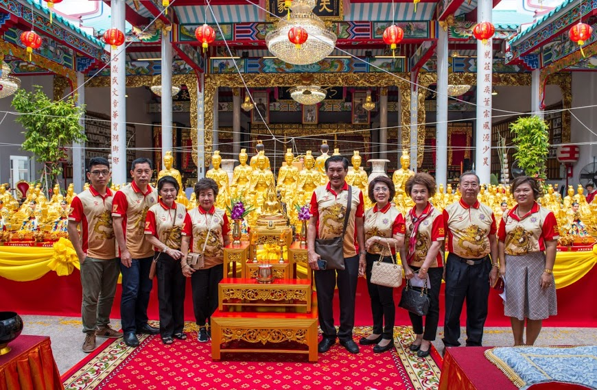 Indonesian Wang descendants visit an ornate ancestral temple in Thailand